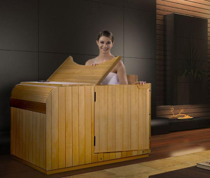 wooden portable sauna