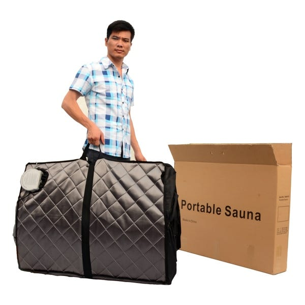 folded portable sauna