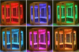 different coloured far infrared sauna