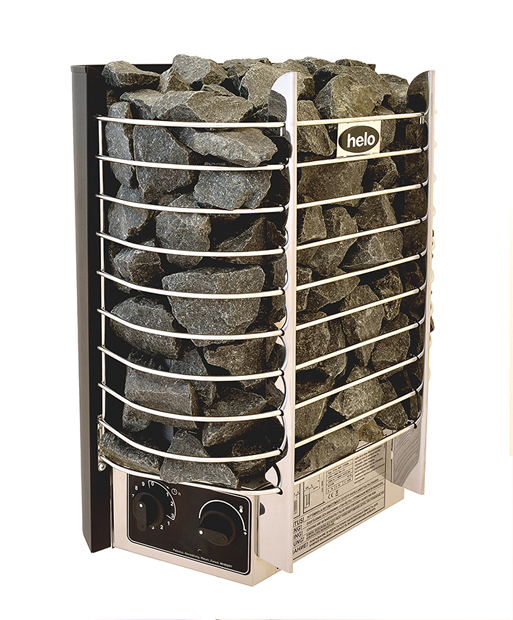 Shows Helo Ring Wall Sauna Heater