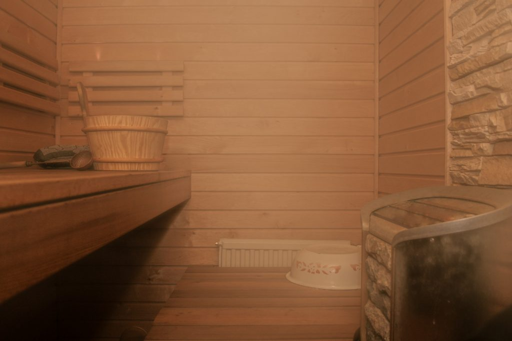 steam bath and sauna room