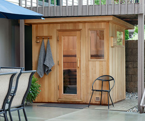 Portable sauna outdoor