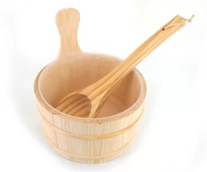 Sauna accessories bucket-ladle
