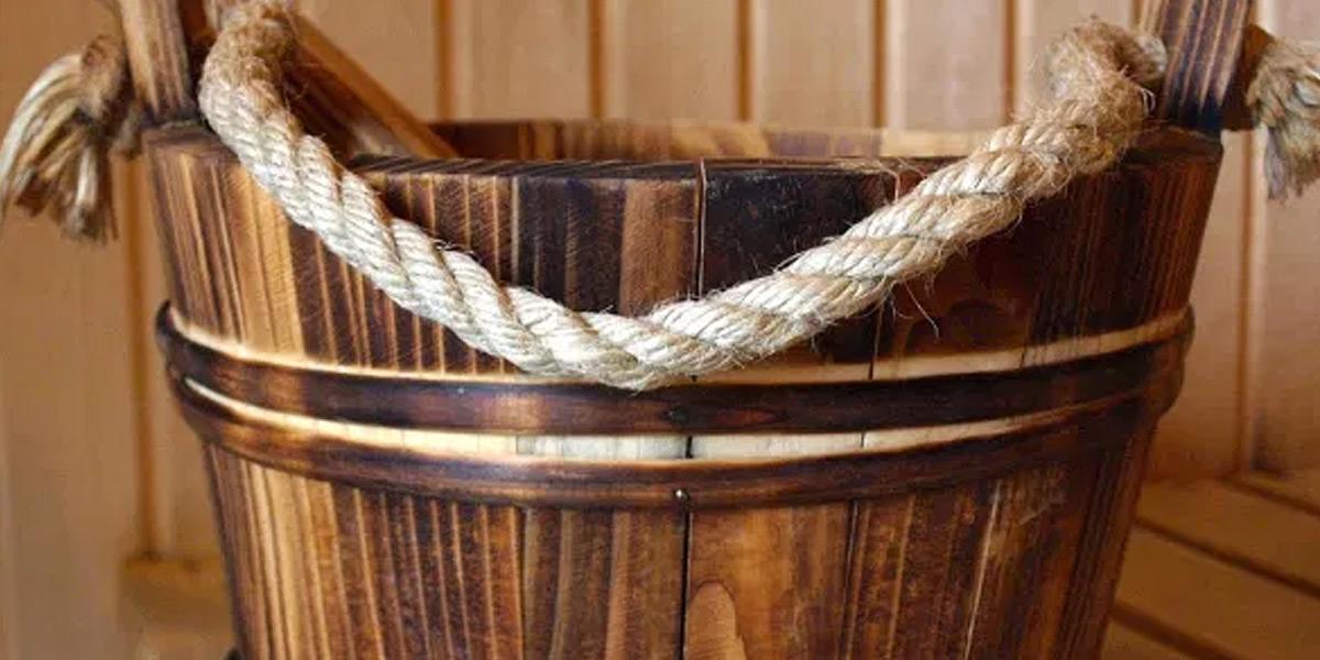 Sauna accessories natural