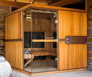 Self assembly sauna wooden